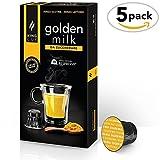 Golden Milk sin azúcar - 5 paquete de 50 Cápsulas Compatibles con Nespresso* (50...